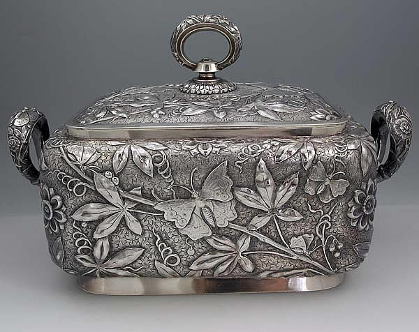 dominick and haff antique silver aesthetic japanese style tureen