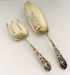 Lion by Frank Smith Sterling Silver Serving Spoon Pierced Original 8 3//8/""