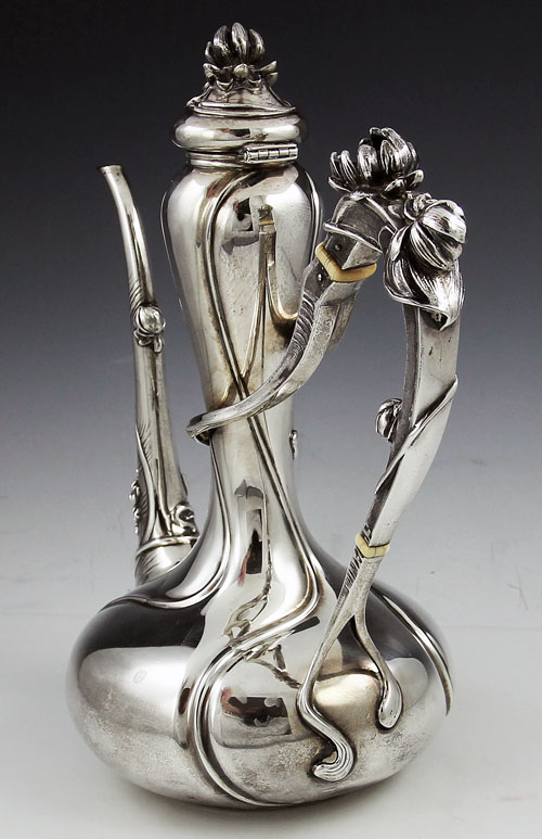 Kerr Sterling Antique Art Nouveau Coffee Pot