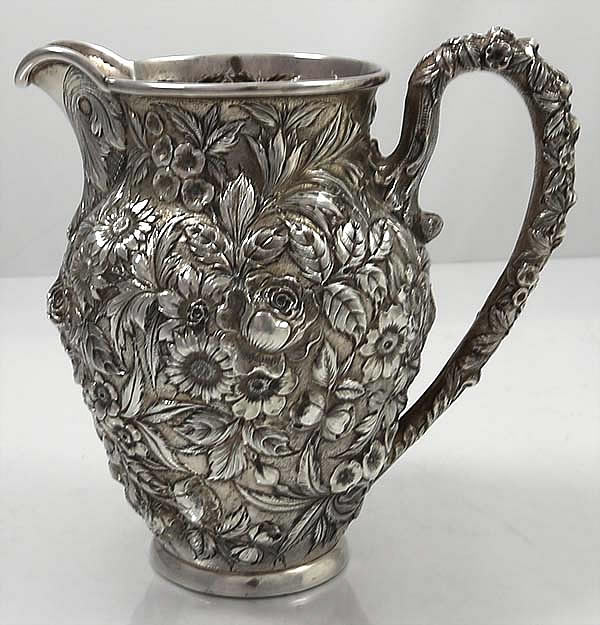 Kirk Repousse Sterling Pitcher Style 27f