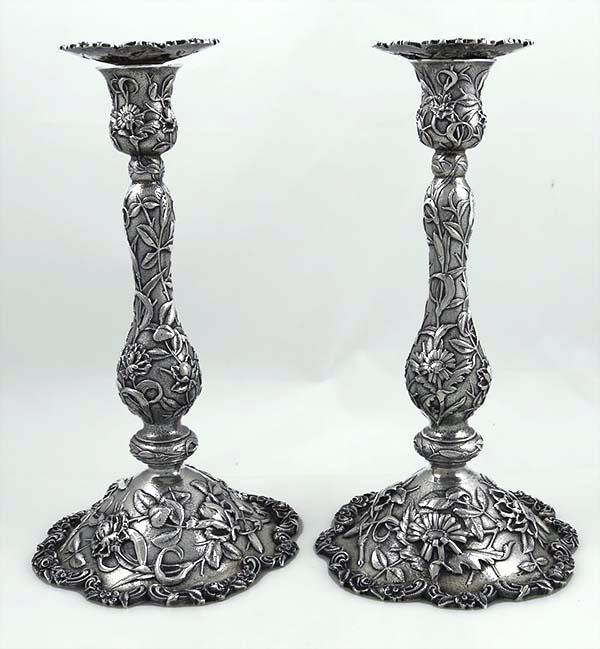 Pair Of Fine Antique Kirk And Son Antique Sterling