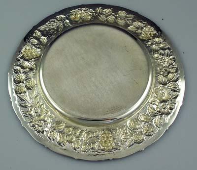 Loring Andrew Cincinnati Sterling Silver Repousse Plates