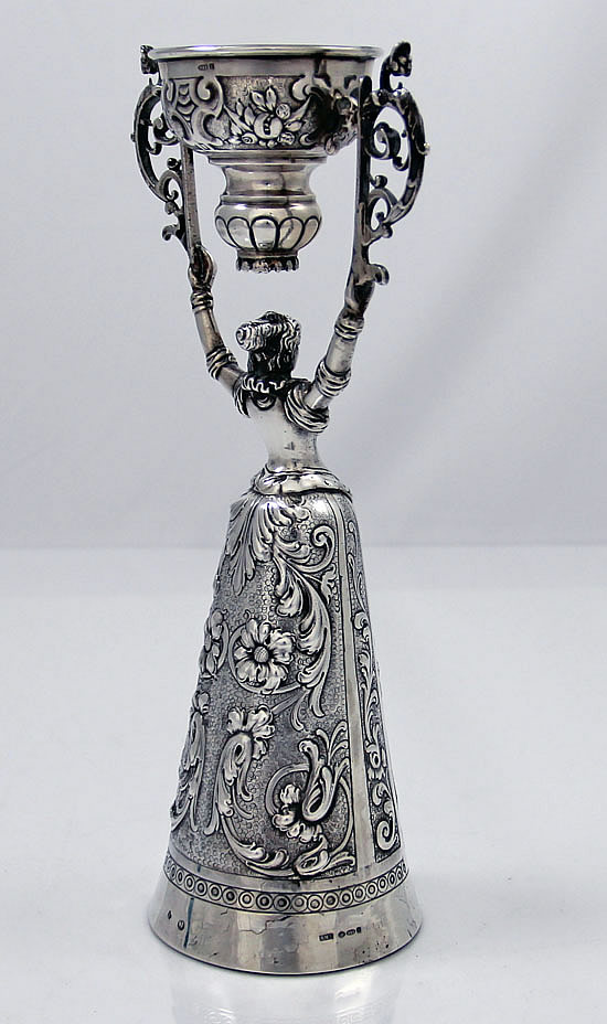 German Silver Wager Or Wedding Cup