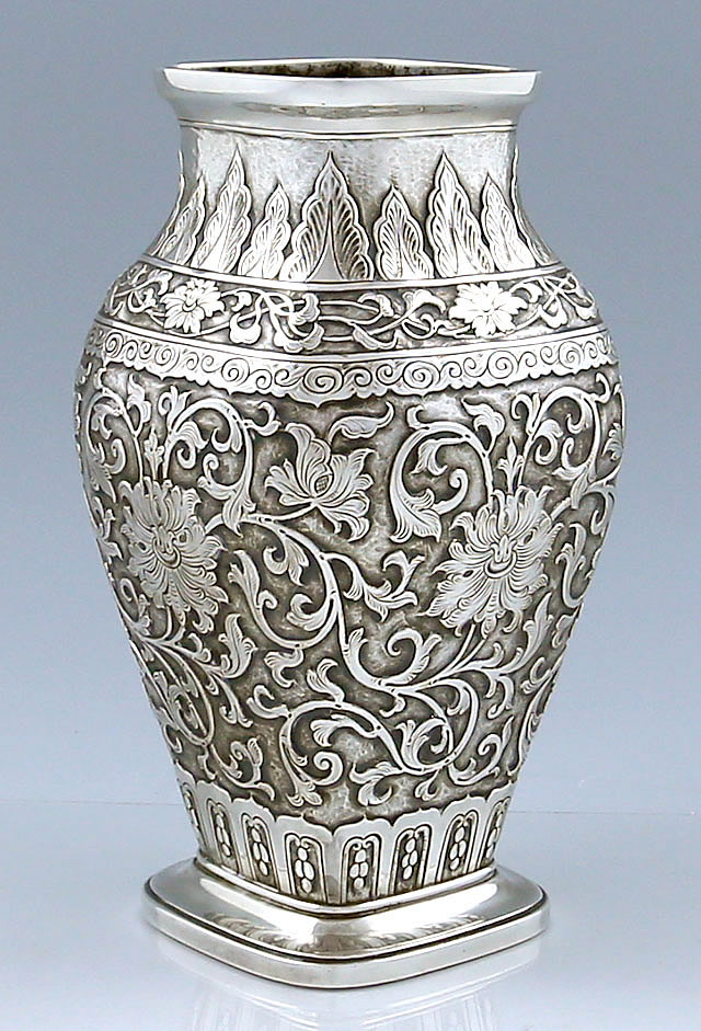 gorham indian style antique sterling silver vase