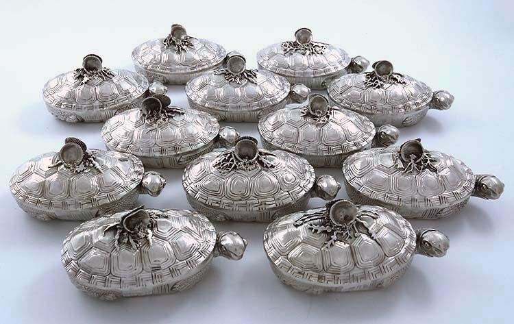 rare gorham antique sterling terrapin tureens turtles