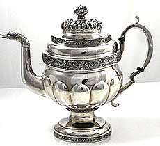 Antique Sterling Silver Tea Items Including Tea Caddies