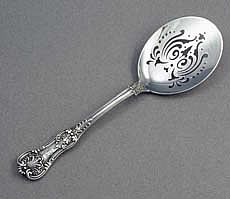 Tiffany English King sterling silver fried egg server
