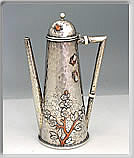 mixed metals coffee pot by whiting
